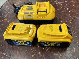 dewalt fast charger and 2 batterys 5.0 AH for Sale in Durham, NC