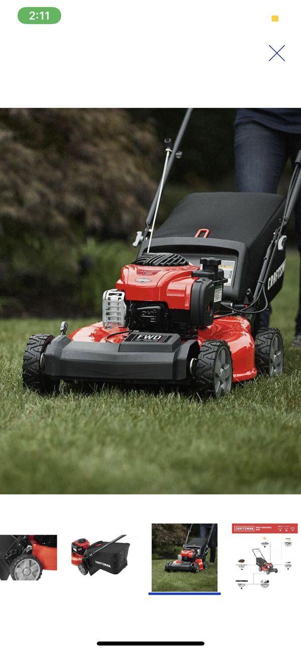 CRAFTSMAN M210 - 140cc 21in Self-propelled Gas Lawn Mower dewalt Iphone
