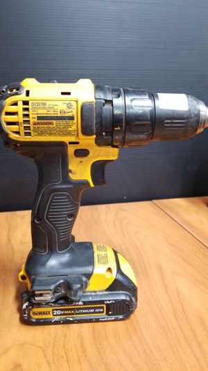 """Dewalt DCD780, 20V Lithium-Ion 1/2"""" Cordless Drill WITH Battery for Sale in Los Angeles, CA"""