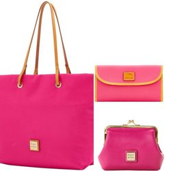 Triple Set Of Dooney & Bourke Pink Tote, Wallet And Change Purse/ Wallet for Sale in Elkridge,  MD
