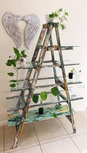 A Frame Ladder Shelf with Glass Shelves for Sale in Las Vegas, NV