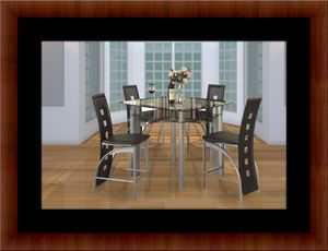 Counter height glass dining table with 4 chairs for Sale in Mount Rainier, MD