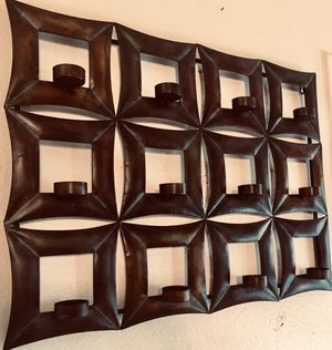 Wall art metal 12 candle holders H23xW30xD4 inch for Sale in Sun Lakes, AZ