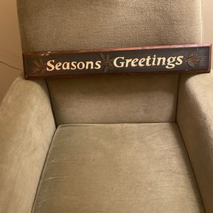 Christmas Wood Seasons Greetings Sign for Sale in Suffolk, VA