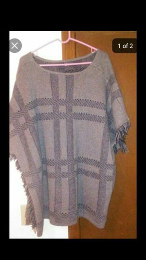 Gray and San Pancho with fringe sleeves like new(please read the description) for Sale in North Smithfield, RI