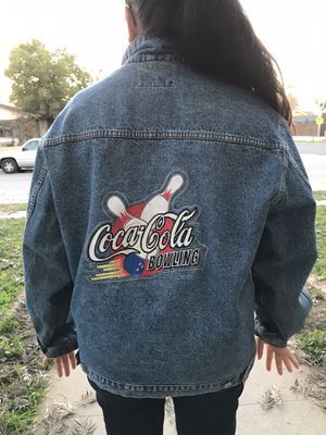 Vintage Jean Jacket Bowling Coke L-XL for Sale in Fresno, CA