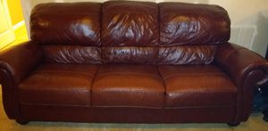 Leather Couch, Loveseat and Chair, Living room set for Sale in Suwanee, GA