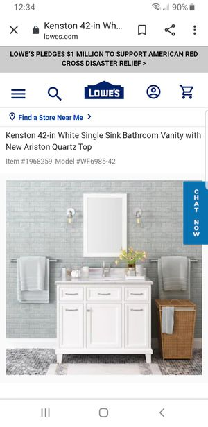 42 in. Bathroom vanity for Sale in Jefferson, MD