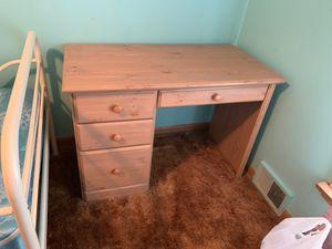 Wood desk for Sale in Lombard, IL