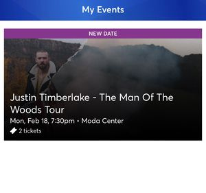 Justin Timberlake Tickets (2) for Sale in Portland, OR