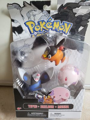 2011 Pokemon Tepig Drilbur Munna Figure Toys . for Sale in Adelphi, MD