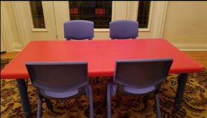 NewInBox-24''x 48'' Rect Red Plastic Height Adjustable Activity Table Set/Chairs-Small Dent Corner for Sale in Orland Park, IL