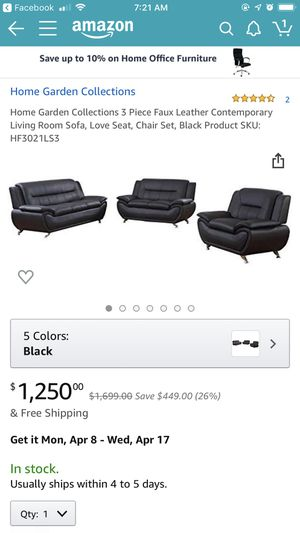 Leather couch set. for Sale in Modesto, CA