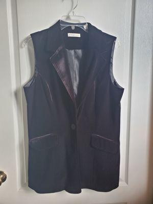 COLDWATER CREEK BLACK VELOUR VEST SIZE 14 for Sale in Orlando, FL