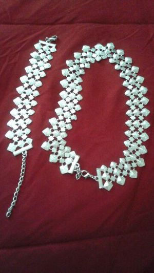 High quality silver necklace &bracelet for Sale in Severn, MD