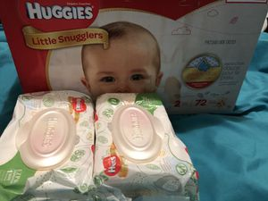 Case of pampers & 2 wipes for Sale in Philadelphia, PA