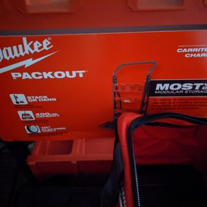 Milwaukee Packout Two Wheel Cart, Packout Tool Boxes, Packout Tool Bag. for Sale in Phoenix, AZ