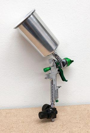 New $27 HVLP Spray Gun Auto Paint Gravity Feed w/ Gauge Metal Flake Primer Nozzle 2.5 mm for Sale in South El Monte, CA