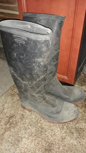 Mens steel toe rubber boots for Sale in Butte, MT