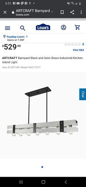 Artcraft Montreal Barnyard kitchen island lighting *NeW* for Sale in Tacoma, WA