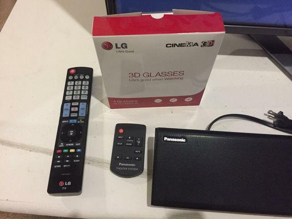 LG 3D TV and Panasonic Sound Bar+Sub