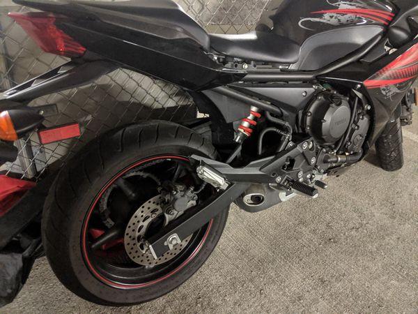 2012 Yamaha FZ6-R 600cc motorcycle