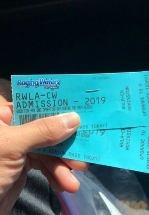 Raging Waters tickets for today (last day) for Sale in Pico Rivera, CA
