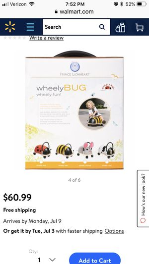 Wheely bug ladybug toy baby kids for Sale in Kissimmee, FL