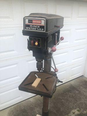 "Sears Craftsman 15"" 12 speed 1/2 hp 6-foot Drill Press for Sale in Virginia Beach, VA"