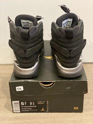 "Size 5.5y Air Jordan 8 Retro BG ""CHROME"" (2015) for Sale in Los Angeles, CA"