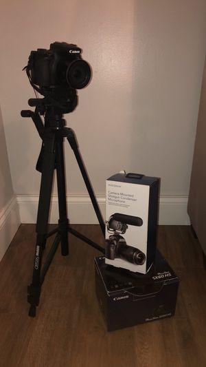 Canon Powershot SX 60 HS camera + tripod + mic for Sale in Nashville, TN