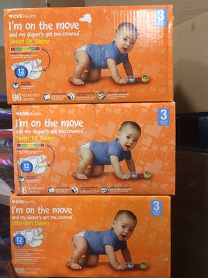 I'm on the move Diapers like pampers and huggies 96 count for Sale in Katy, TX