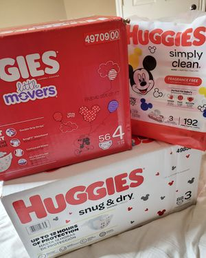 Huggies size 3 and 4 for Sale in Houston, TX