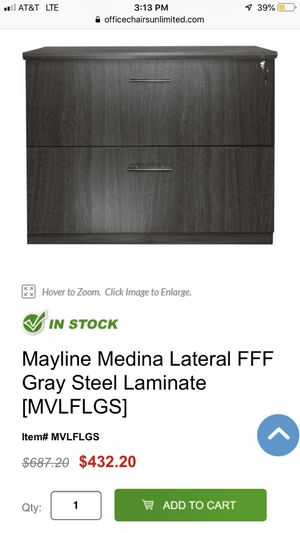 Mayline Medina lateral file cabinet mocha brown color, for Sale in Indianapolis, IN