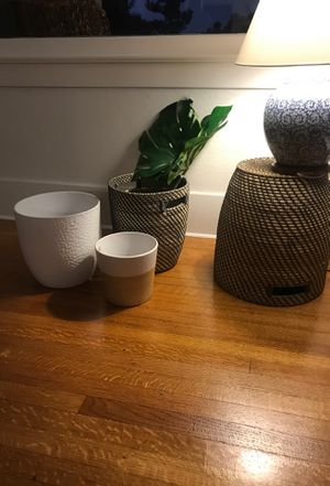 Plant pots and baskets - 4 for Sale in San Diego, CA