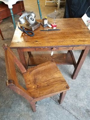 Antique Desk and Chair for Sale in Columbus, OH