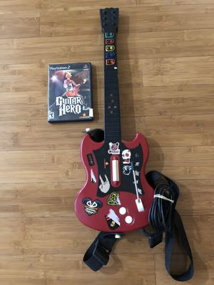 PS2 cherry les Paul wired guitar hero for Sale in Richardson, TX