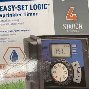 Orbit 4 Station Easy Set Logic Sprinkler Timer for Sale in Fort Lauderdale, FL