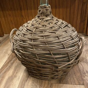 Antique Wicker Wrapped Demi-John Bottle for Sale in Spring Valley, CA