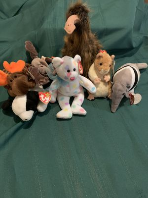 Ty beanie baby collection 7 pieces for Sale in Kennedale, TX