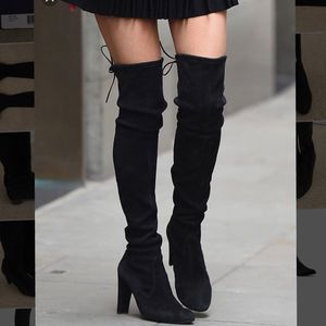Stuart Weitzman Black Suede Highland Over the Knee Boots for Sale in San Francisco, CA