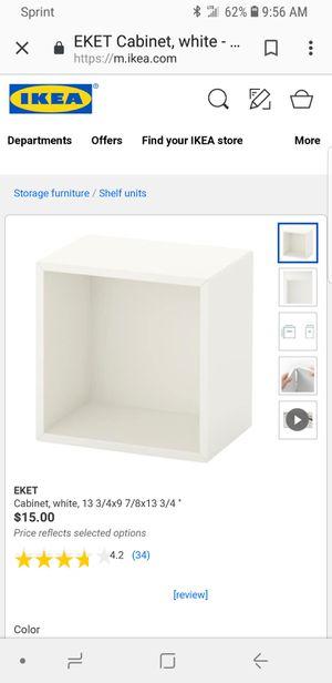 Set of 2 ikea eket wall shelves white brand new for Sale in Palmyra, NJ