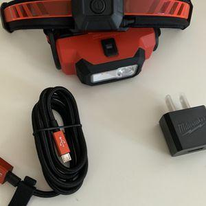 Milwaukee 600 Lumens LED USB Rechargeable 360-Degree Visibility Hard Hat Headlamp W/ Extra REDLITHIUM USB Battery for Sale in Bogota, NJ