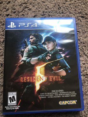 Resident evil 5 PS4 for Sale in Riverside, CA