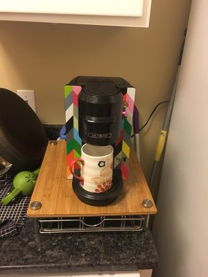 Kuerig French Bulldog edition single cup coffee brewer with base coffee pod holder for Sale in Alexandria, VA