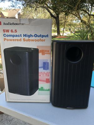AudioSource SW 6.5 Subwoofer Powered Compact High-Output for Sale in Orlando, FL