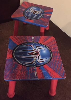 Wooden Spider-Man kids stools for Sale in Falls Church, VA