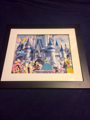 Walt Disney World Magic Kingdom Pin Frame Set with 4 collectible pins for Sale in La Habra Heights, CA