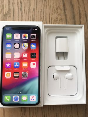 Apple IPhone X Unlocked 64gb with accessories for Sale in Jersey City, NJ