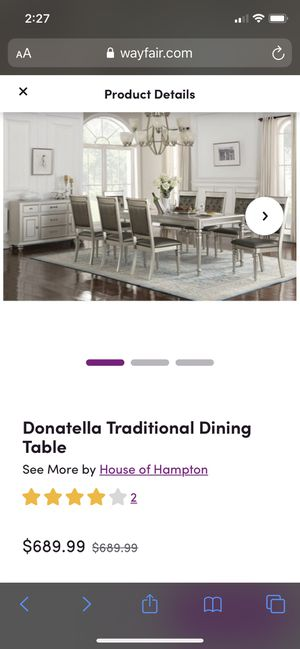 Donatella Traditional Dining Table for Sale in Milwaukee, WI